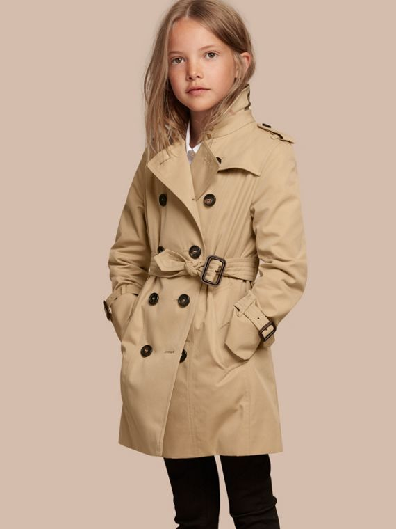 The Sandringham – Heritage Trench Coat in Honey - Girl | Burberry Australia