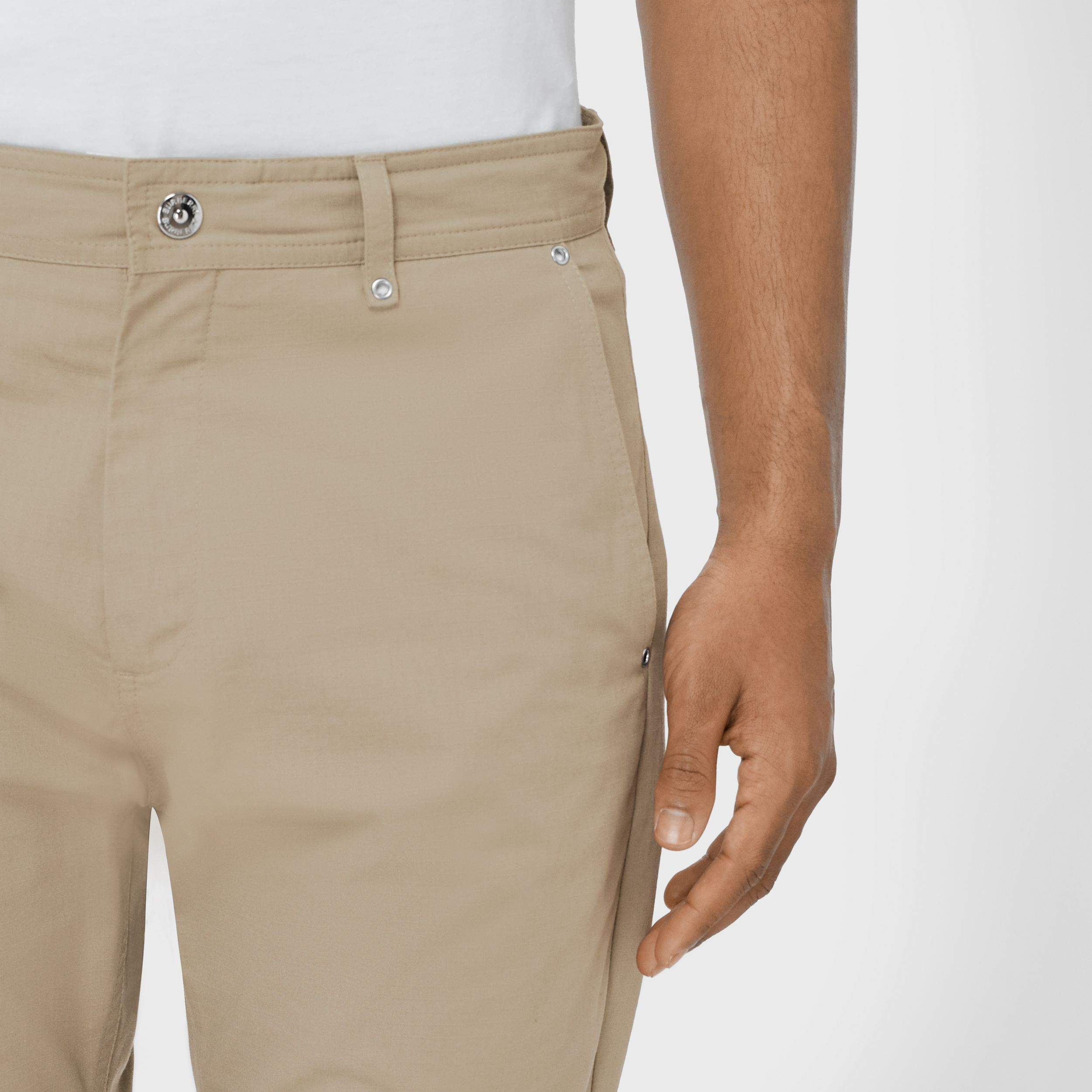 Ripstop Cotton Trousers in Stone - Men | Burberry - 2