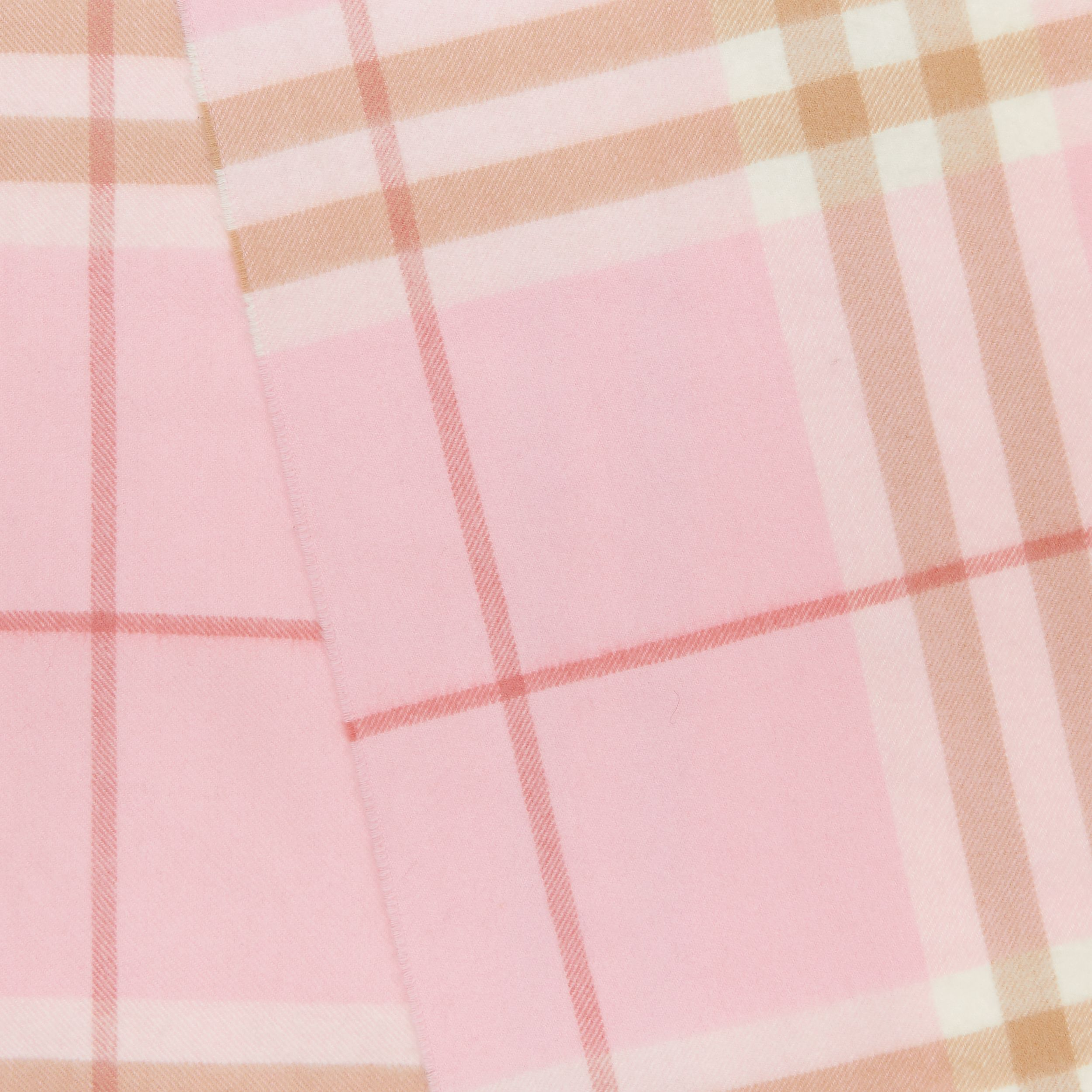 The Classic Check Cashmere Scarf in Candy Pink | Burberry - 2