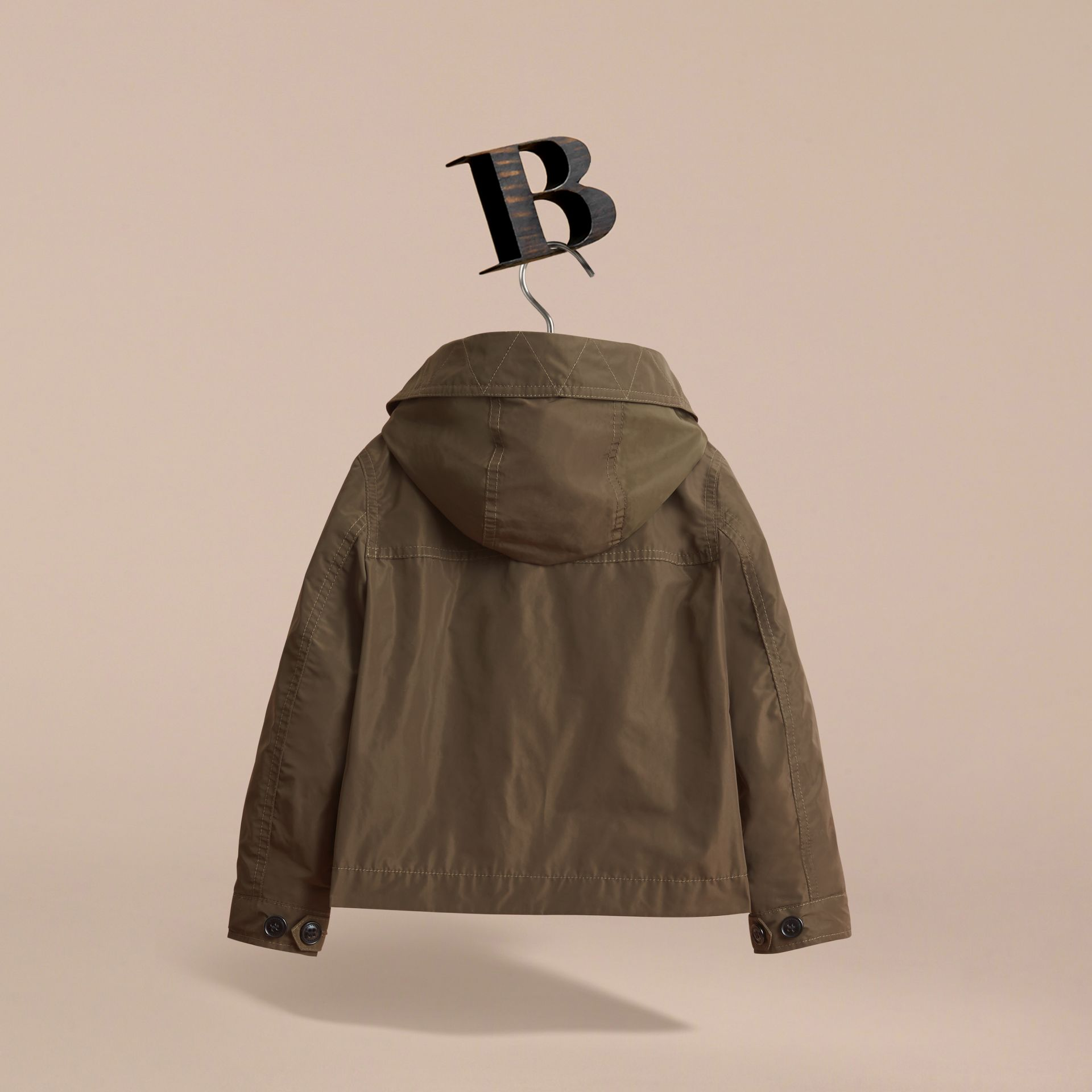 Hooded Field Jacket in Khaki - Boy | Burberry - gallery image 4
