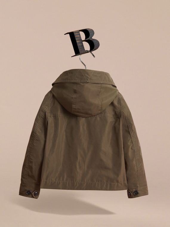 Hooded Field Jacket in Khaki - Boy | Burberry - cell image 3