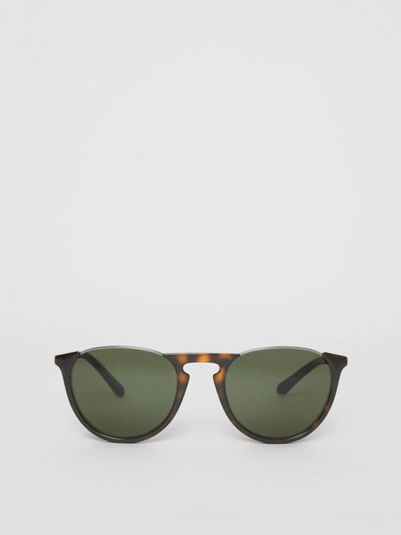 Óculos de sol com armação redonda Keyhole (Casco  Tartaruga)