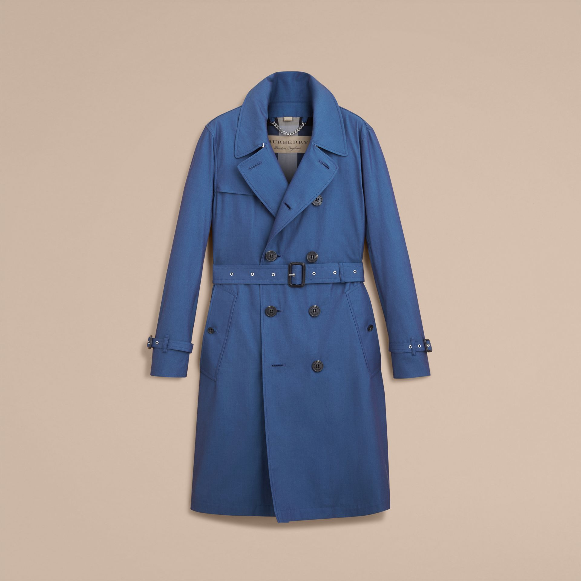 Tropical Gabardine Cotton Trench Coat - gallery image 4