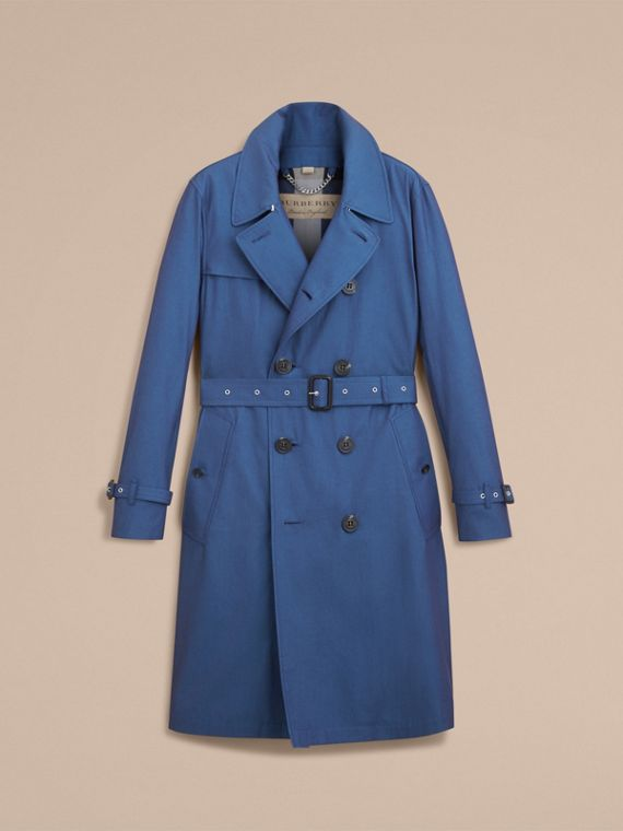 Tropical Gabardine Cotton Trench Coat - cell image 3