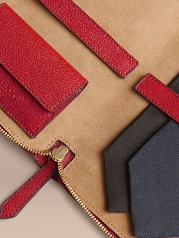 Grainy Leather Tie Case in Parade Red - Men | Burberry Australia - cell image 2