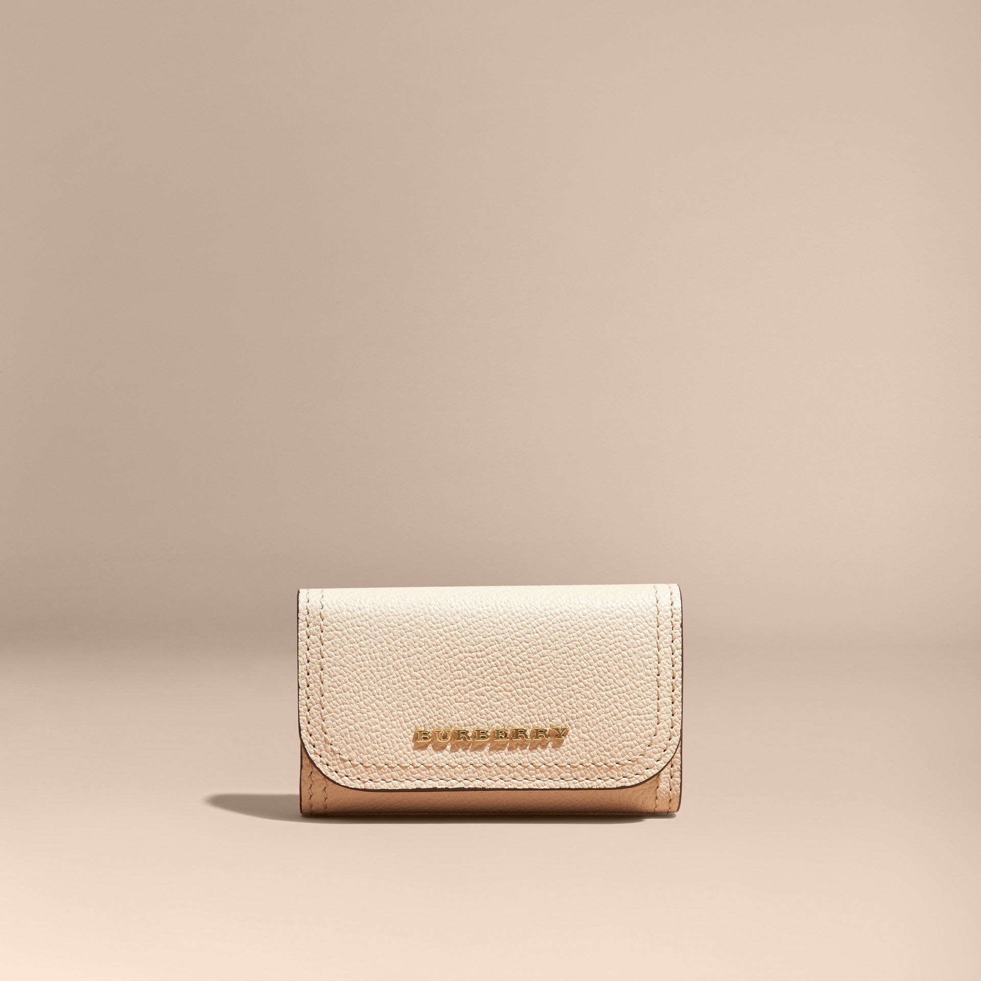 Grainy Leather Key Holder in Limestone - Women | Burberry - gallery image 5