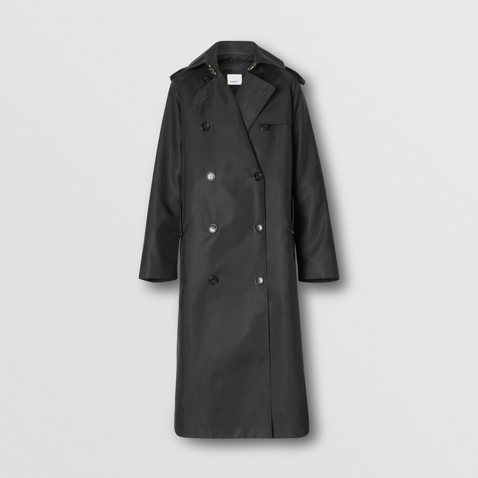 ECONYL® Trench Coat with Detachable Leather Jacket in Black - Women | Burberry - gallery image 3