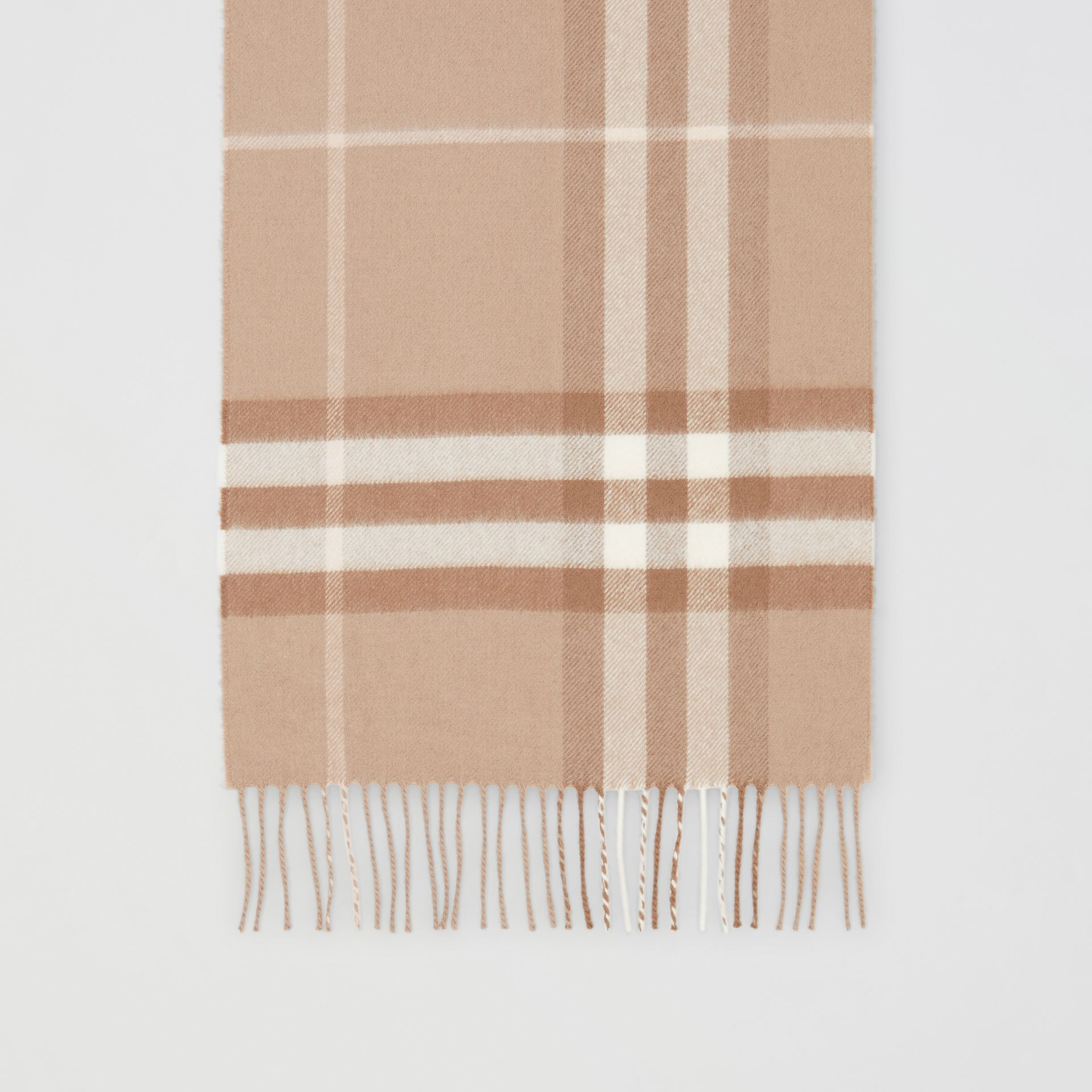 The Classic Check Cashmere Scarf in Warm Taupe | Burberry - gallery image 3
