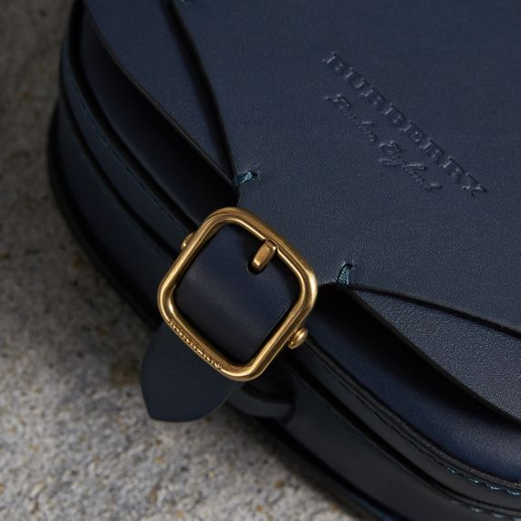 The Satchel in Leather in Indigo - Women | Burberry United Kingdom - cell image 1