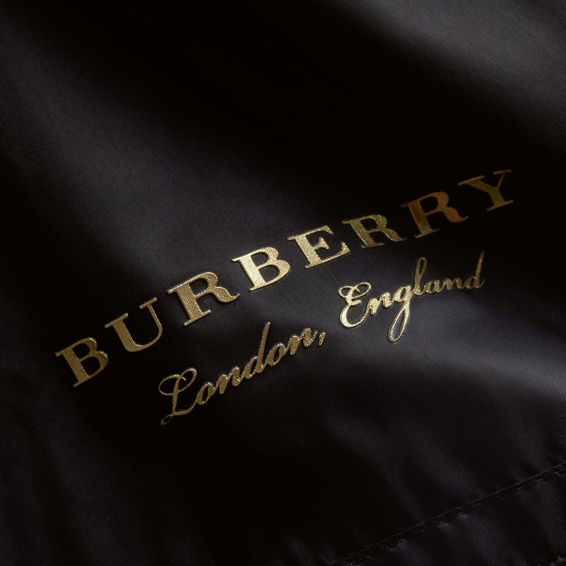 Lightweight Bomber Jacket in Black - Women | Burberry Canada - gallery image 2