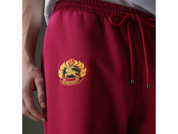 Archive Logo Jersey Sweatpants in Light Burgundy - Men | Burberry - cell image 1