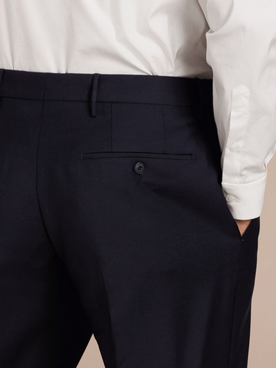 Modern Fit Wool Mohair Trousers True Navy - cell image 3