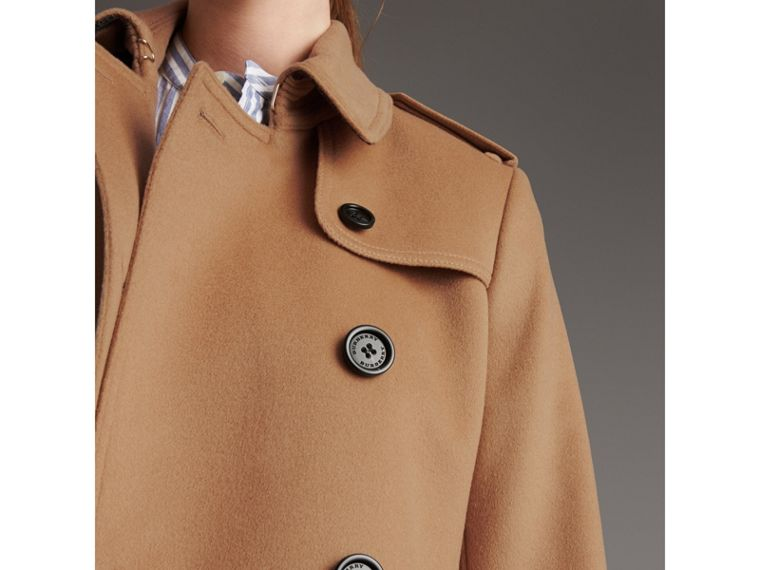 Wool Cashmere Trench Coat in Camel - Women | Burberry - cell image 4
