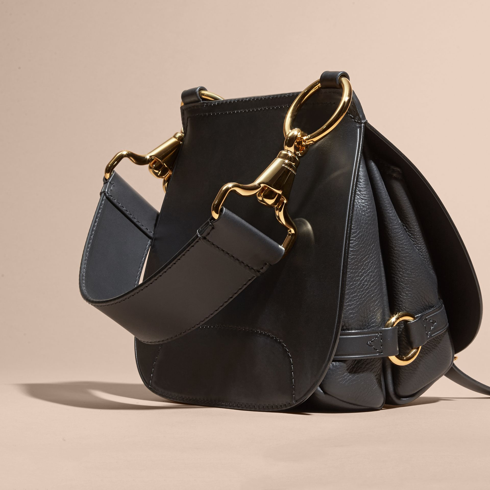 The Bridle Bag in Leather in Black - Women | Burberry - gallery image 4