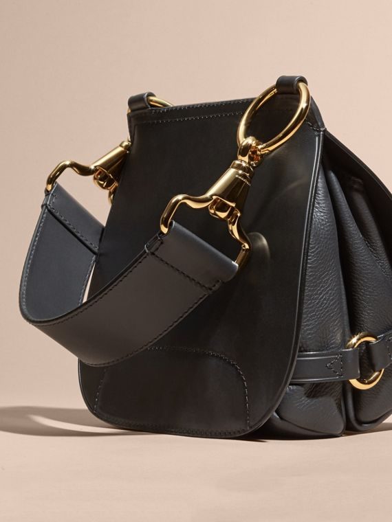 The Bridle Bag in Leather in Black - Women | Burberry - cell image 3