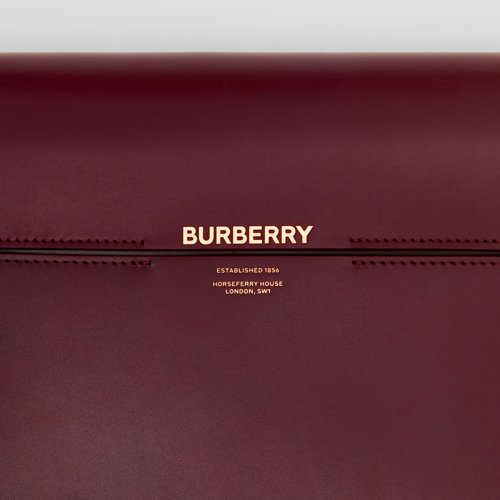 Grand sac Grace en cuir bicolore (Oxblood/rouge Militaire Vif) - Femme | Burberry - photo de la galerie 1