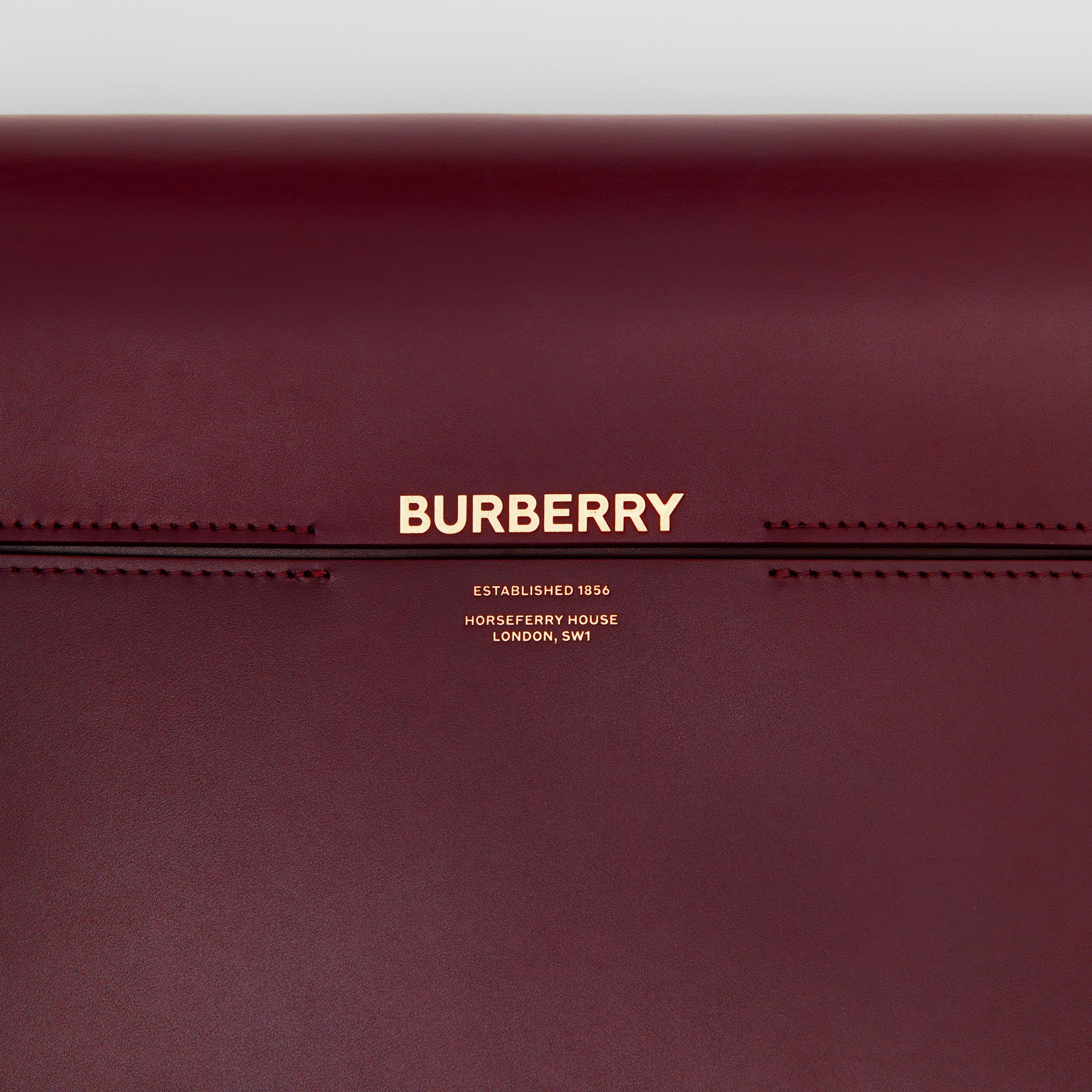 Large Two-tone Leather Grace Bag in Oxblood/bright Military Red - Women | Burberry - 2