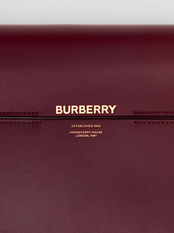 Large Two-tone Leather Grace Bag in Oxblood/bright Military Red - Women | Burberry United Kingdom - cell image 1