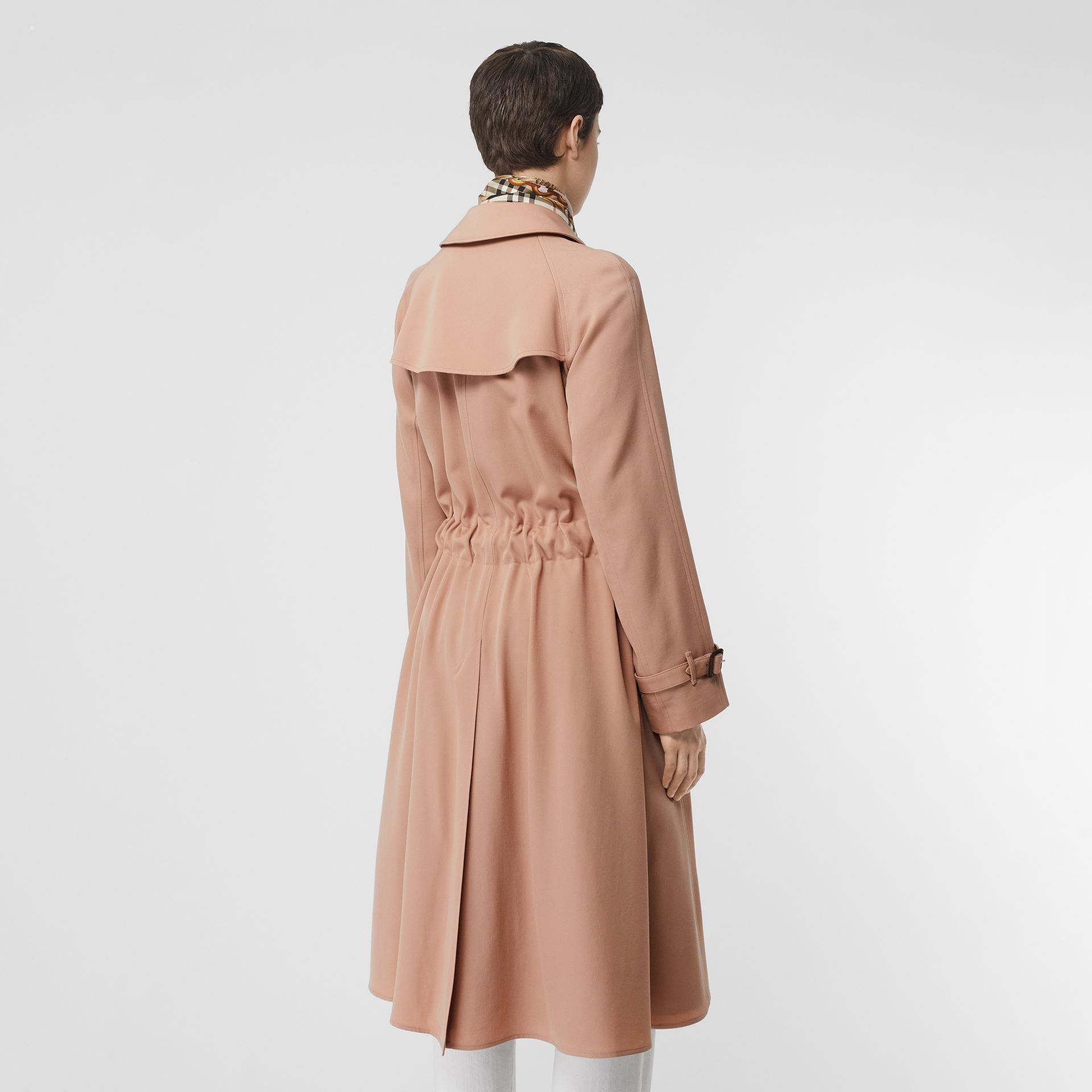 Wool Gabardine Trench Coat in Blush Pink - Women | Burberry - gallery image 2