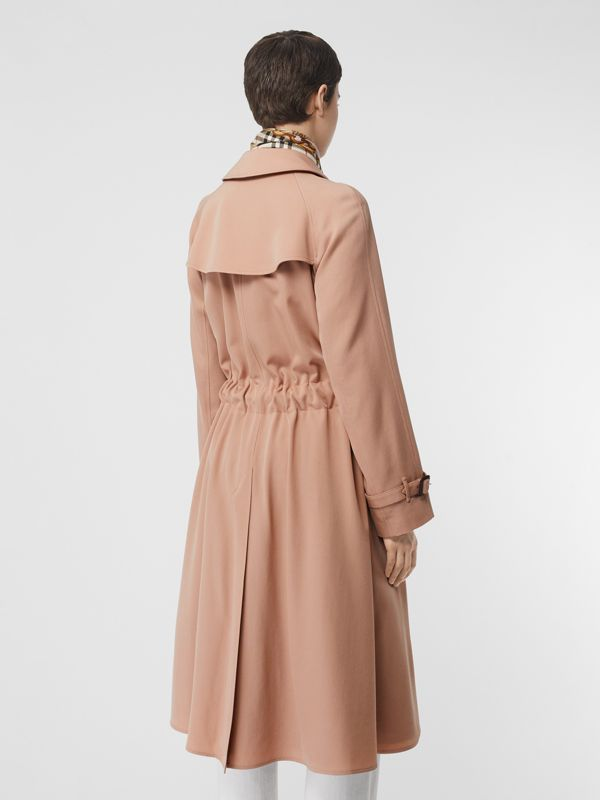 Wool Gabardine Trench Coat in Blush Pink - Women | Burberry - cell image 2