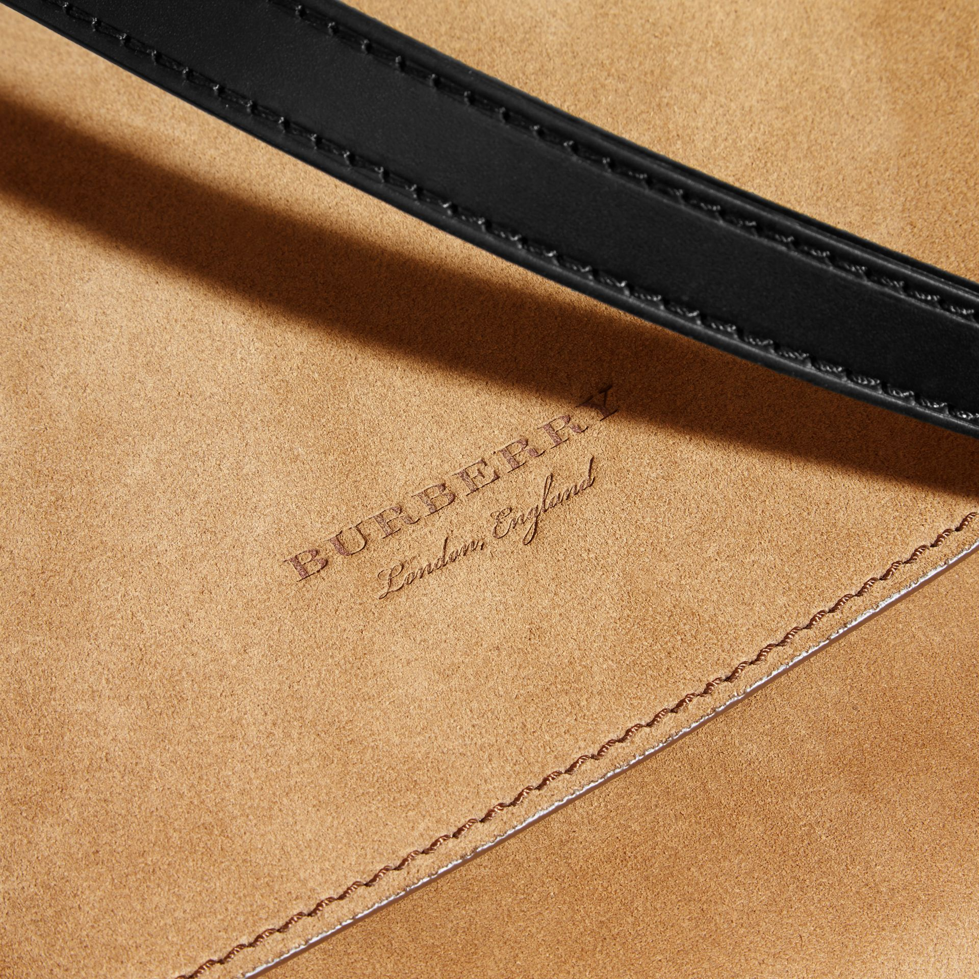 The Medium Bridle in Suede in Flax - Men | Burberry - gallery image 2