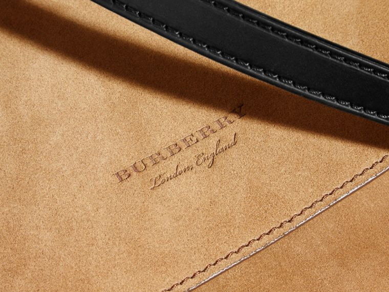 The Medium Bridle in Suede in Flax - Men | Burberry - cell image 1