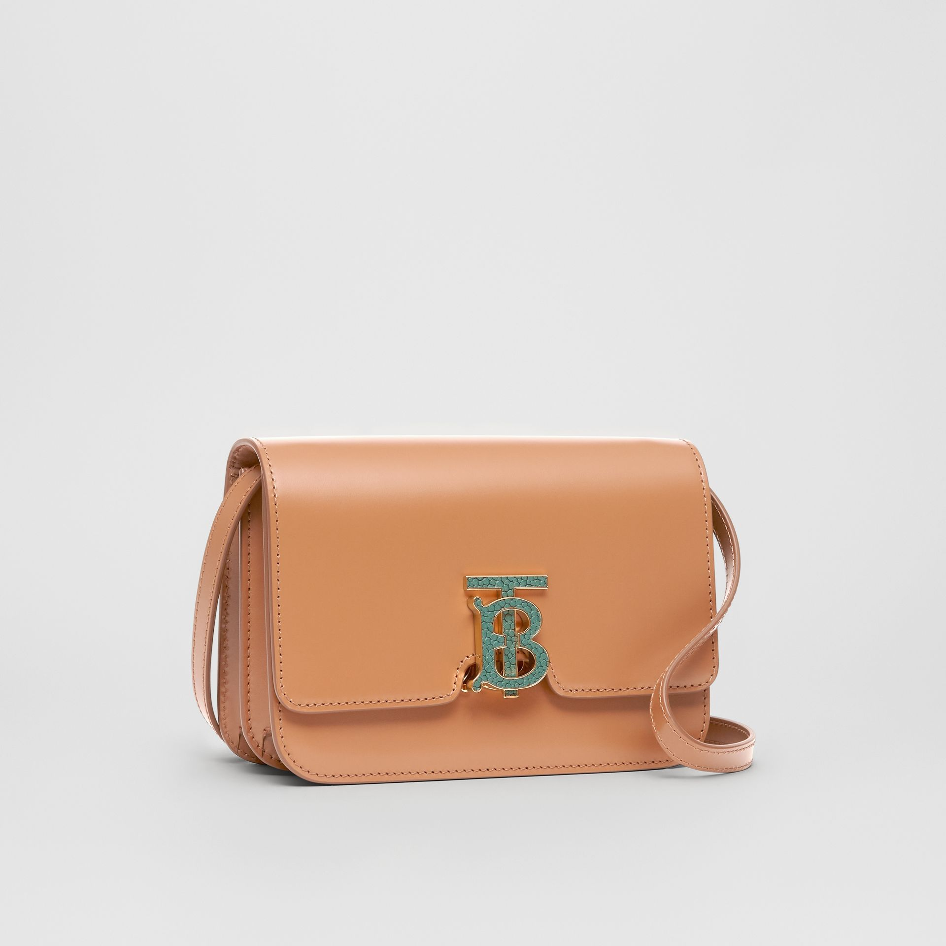 Small Leather TB Bag in Flaxseed - Women | Burberry - gallery image 6