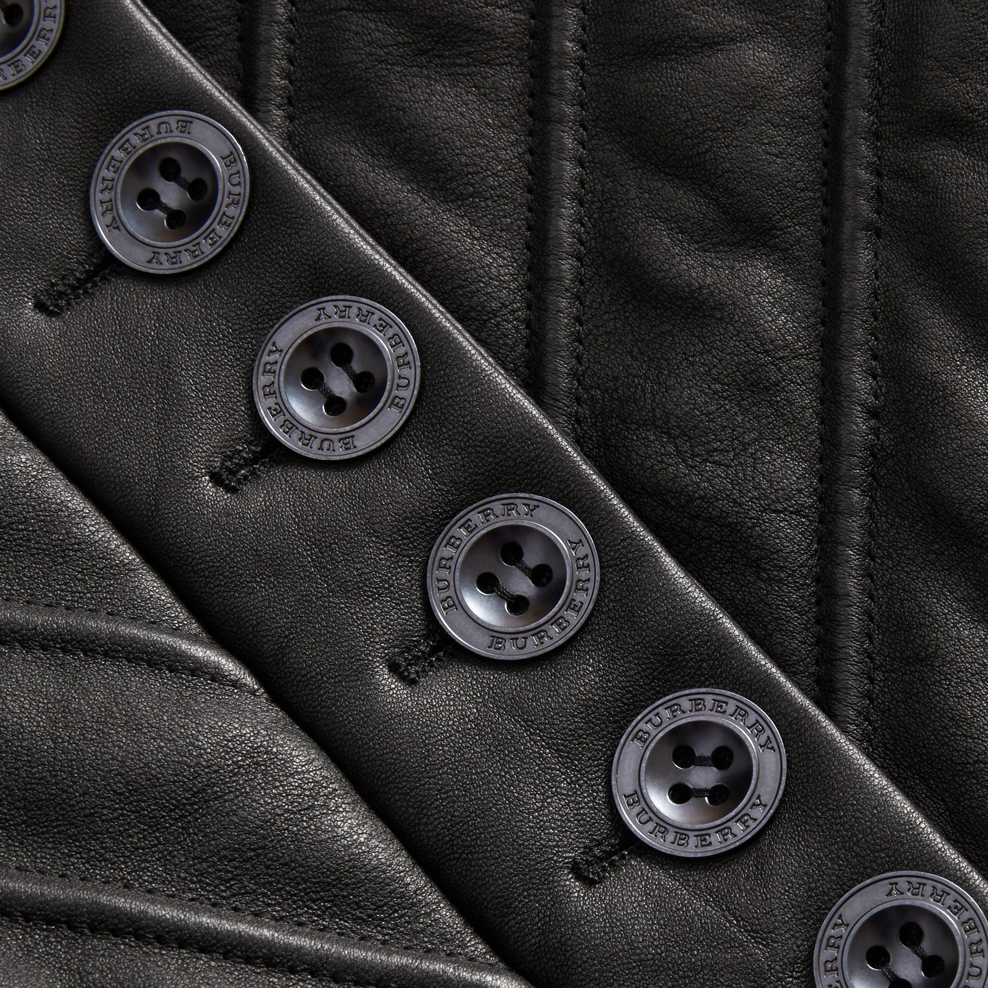 Quilted Lambskin Military-inspired Jacket in Black - Women | Burberry - gallery image 2