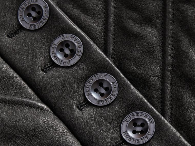 Quilted Lambskin Military-inspired Jacket in Black - Women | Burberry - cell image 1