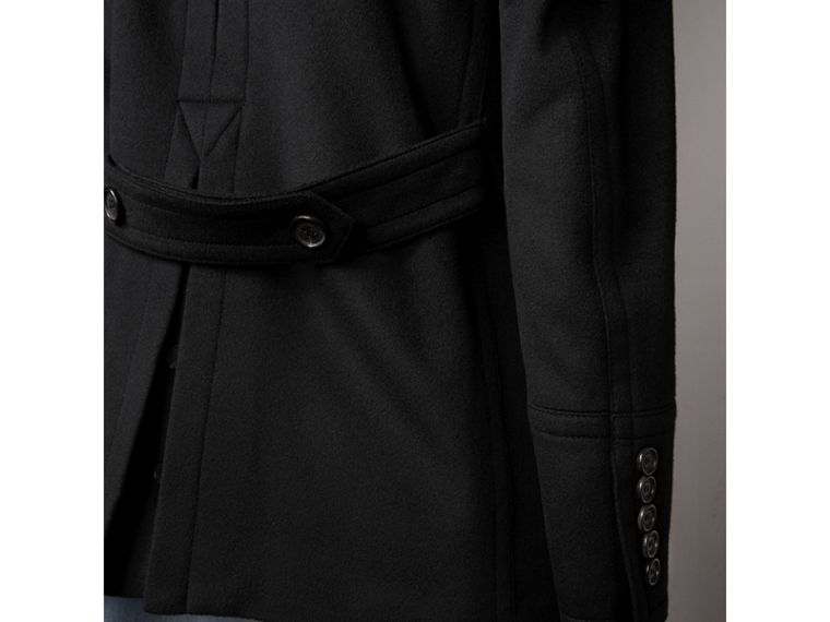 Wool Cashmere Pea Coat in Black - Men | Burberry - cell image 4
