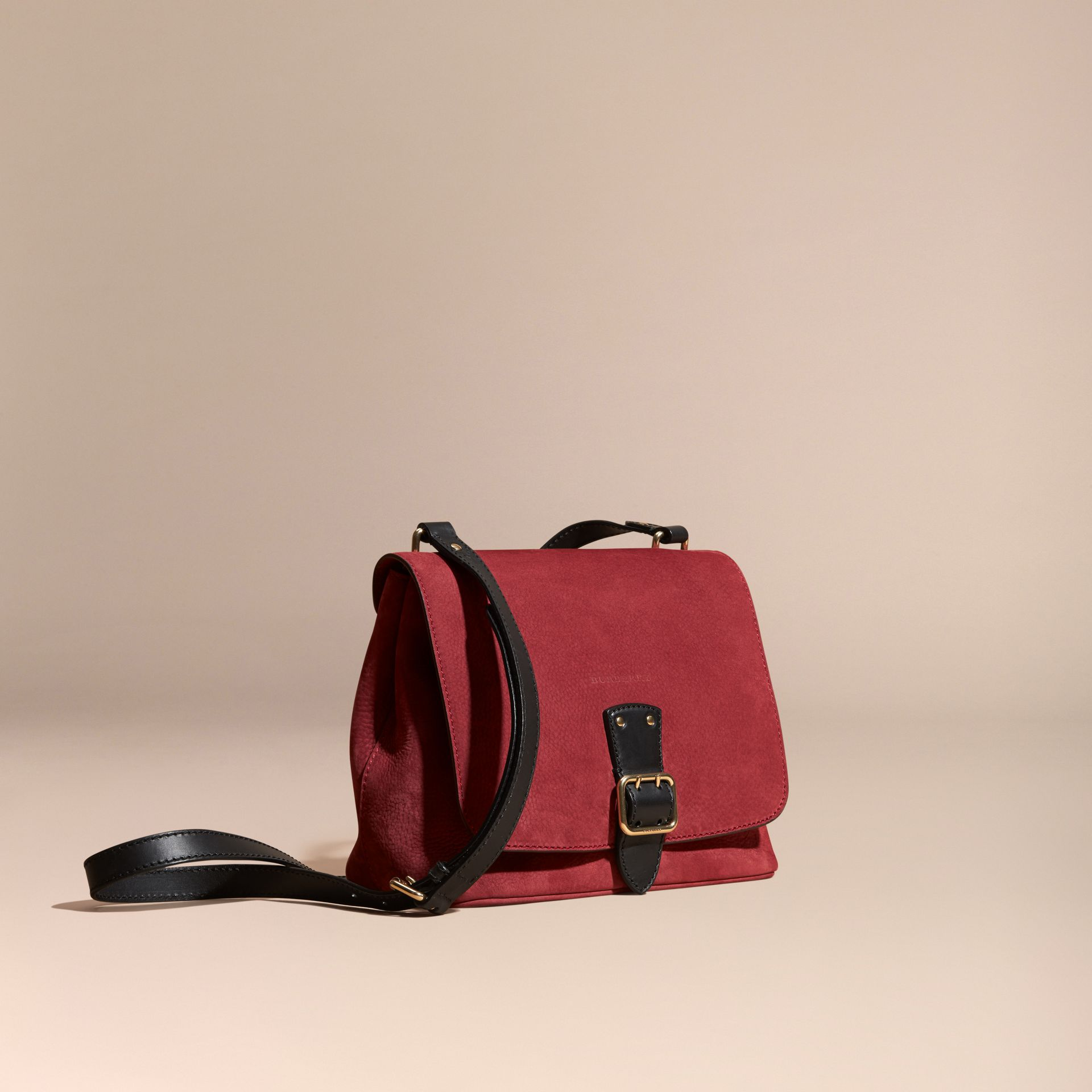 Cherry Grainy Nubuck Crossbody Bag - gallery image 1