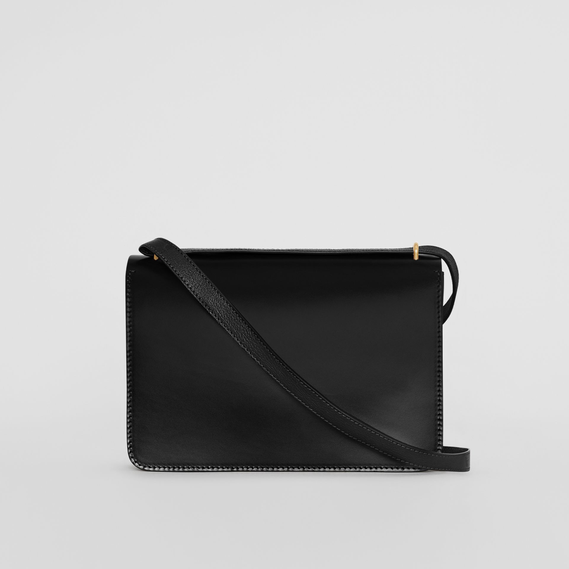 The Medium Leather D-ring Bag in Black - Women | Burberry Australia - gallery image 8