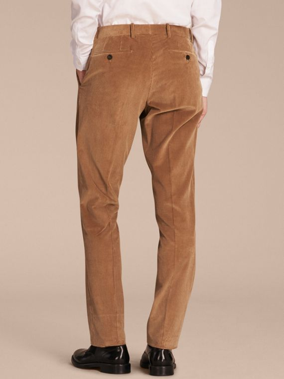 Camel Slim Fit Cotton Corduroy Trousers Camel - cell image 2