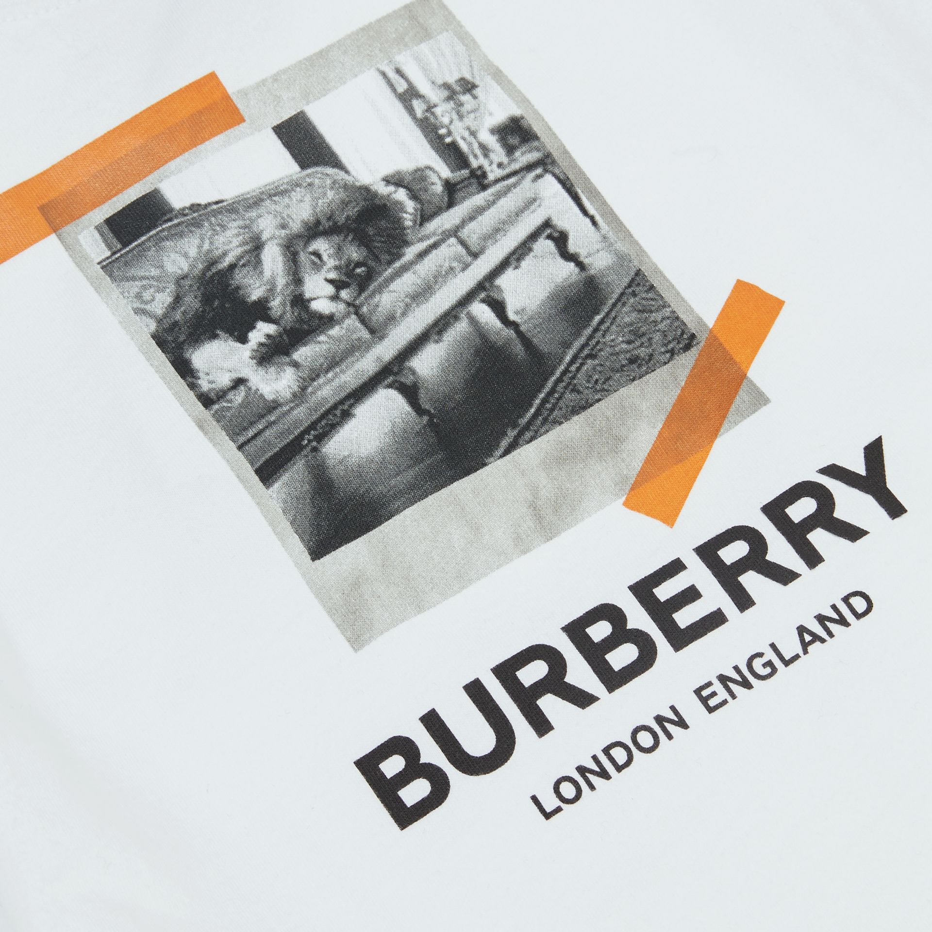 Vintage Polaroid Print Cotton T-shirt in White - Children | Burberry United Kingdom - gallery image 1
