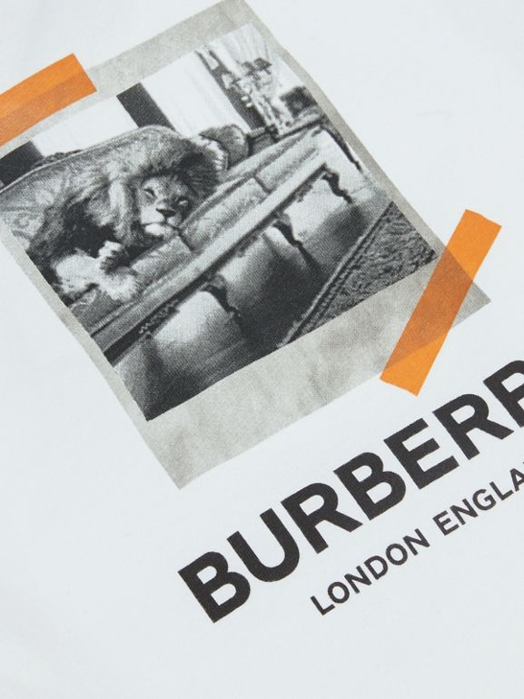 Vintage Polaroid Print Cotton T-shirt in White - Children | Burberry United Kingdom - cell image 1