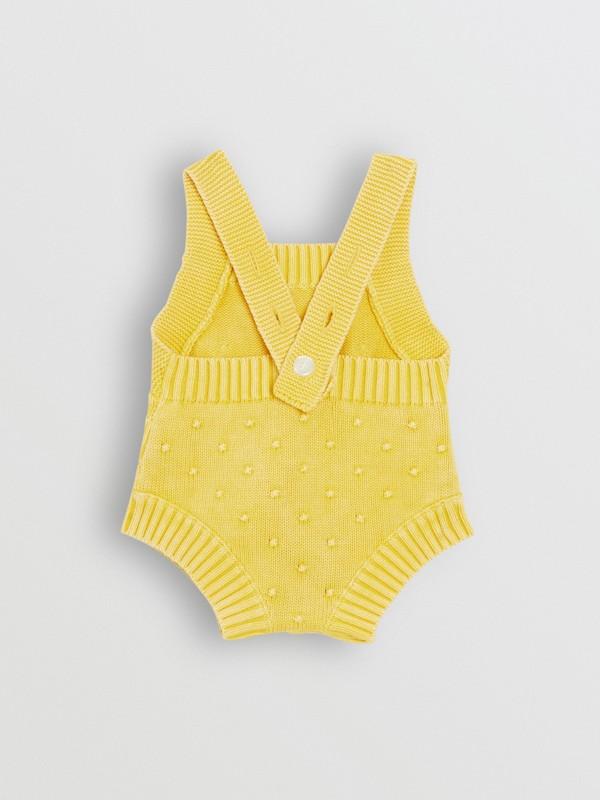 Pagliaccetto in cotone con texture a contrasto (Giallo Limone) - Bambini | Burberry - cell image 3