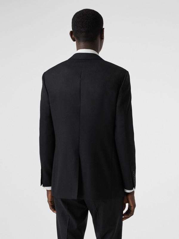 Slim Fit Monogram Motif Wool Flannel Tailored Jacket in Black - Men | Burberry - cell image 2