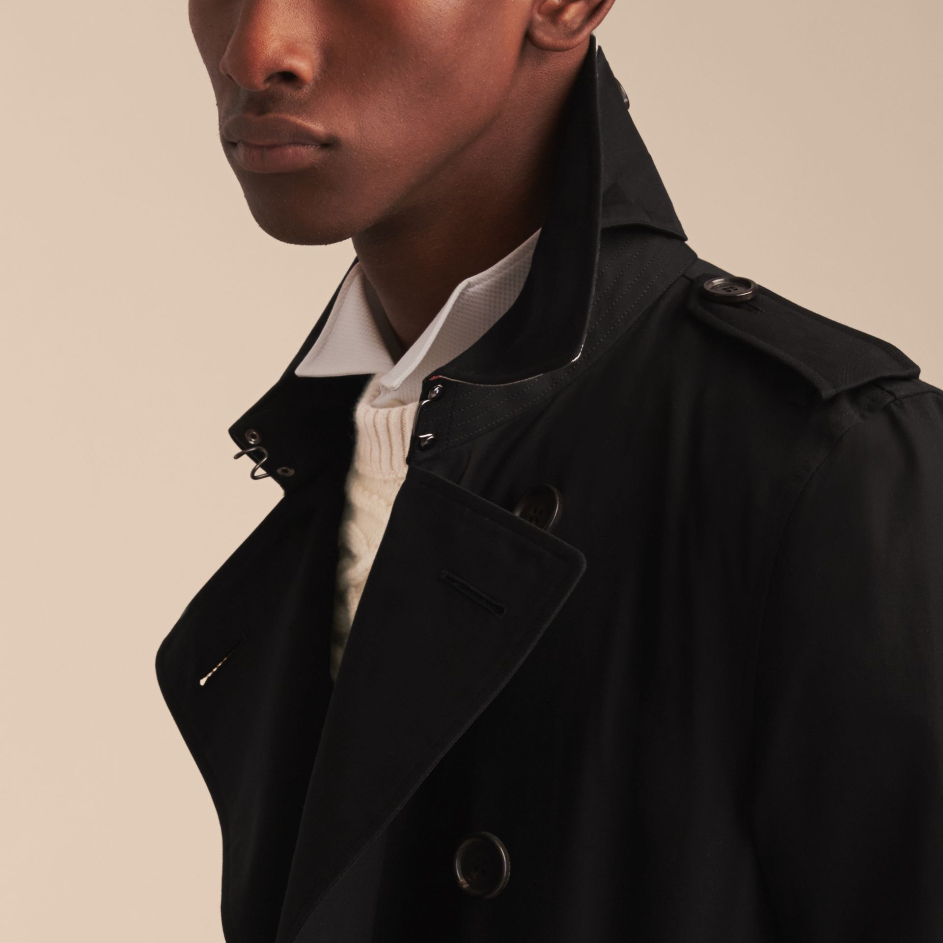 Noir The Kensington – Trench-coat Heritage long Noir - photo de la galerie 7