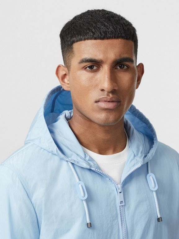 Packaway Lightweight Hooded Jacket in Pale Blue - Men | Burberry Singapore - cell image 1