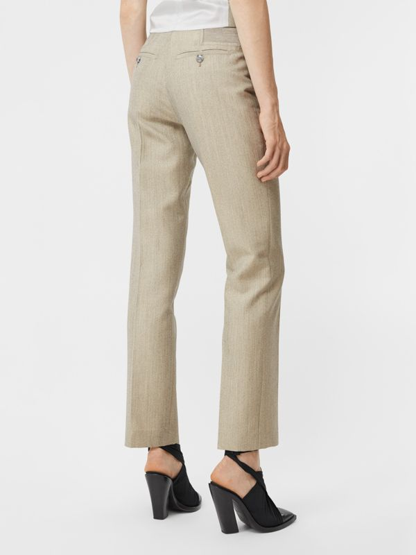 Technical Wool Reconstructed Trousers in Grey - Women | Burberry - cell image 2