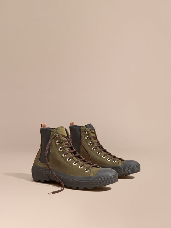 Technical Cotton and Vulcanised Rubber Boots