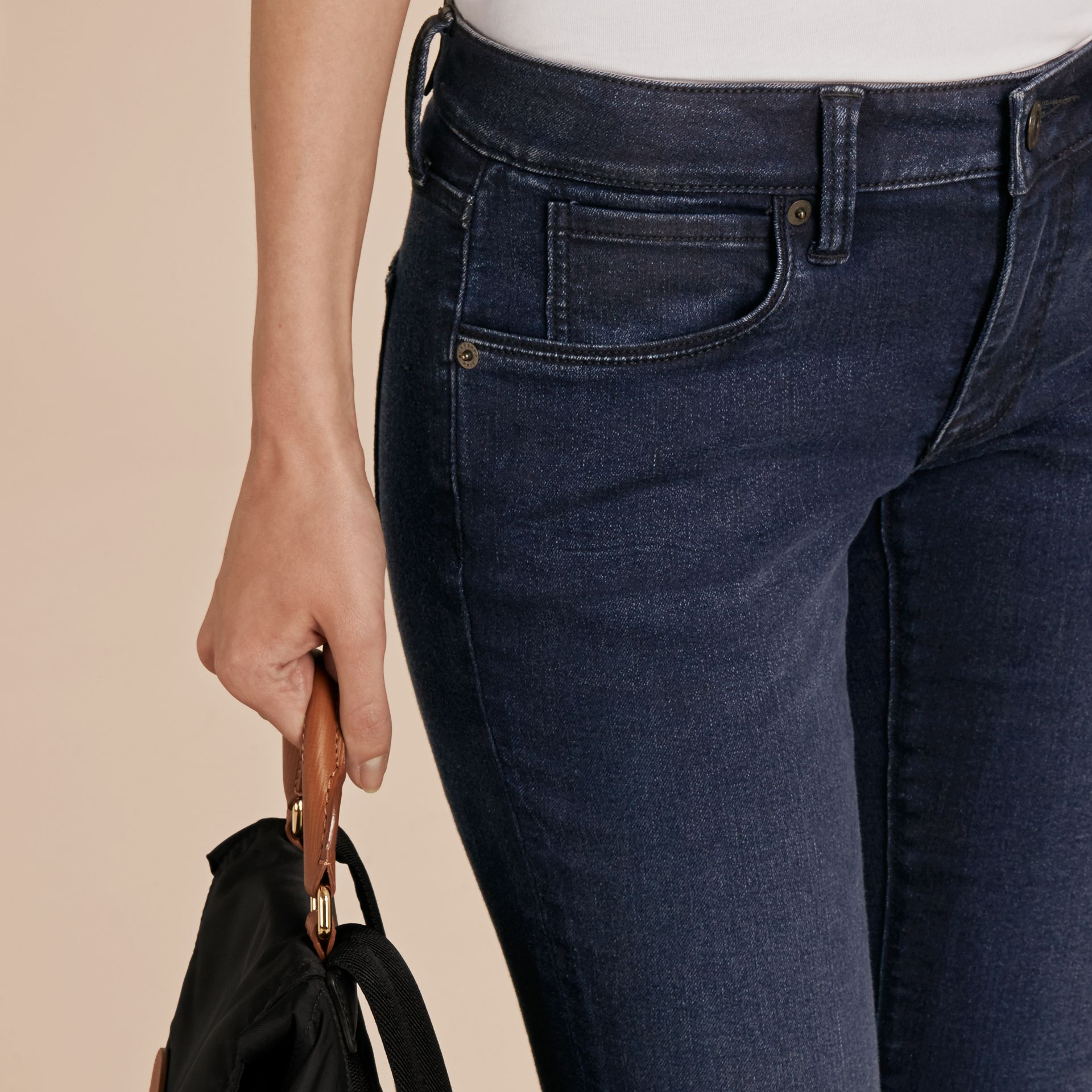 Dark indigo Skinny Fit Power-Stretch Jeans - gallery image 5