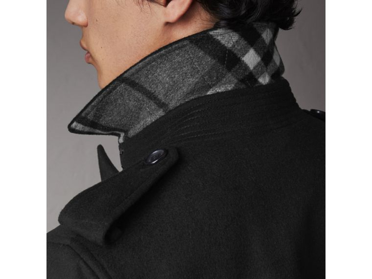 Wool Cashmere Trench Coat in Black - Men | Burberry Australia - cell image 4