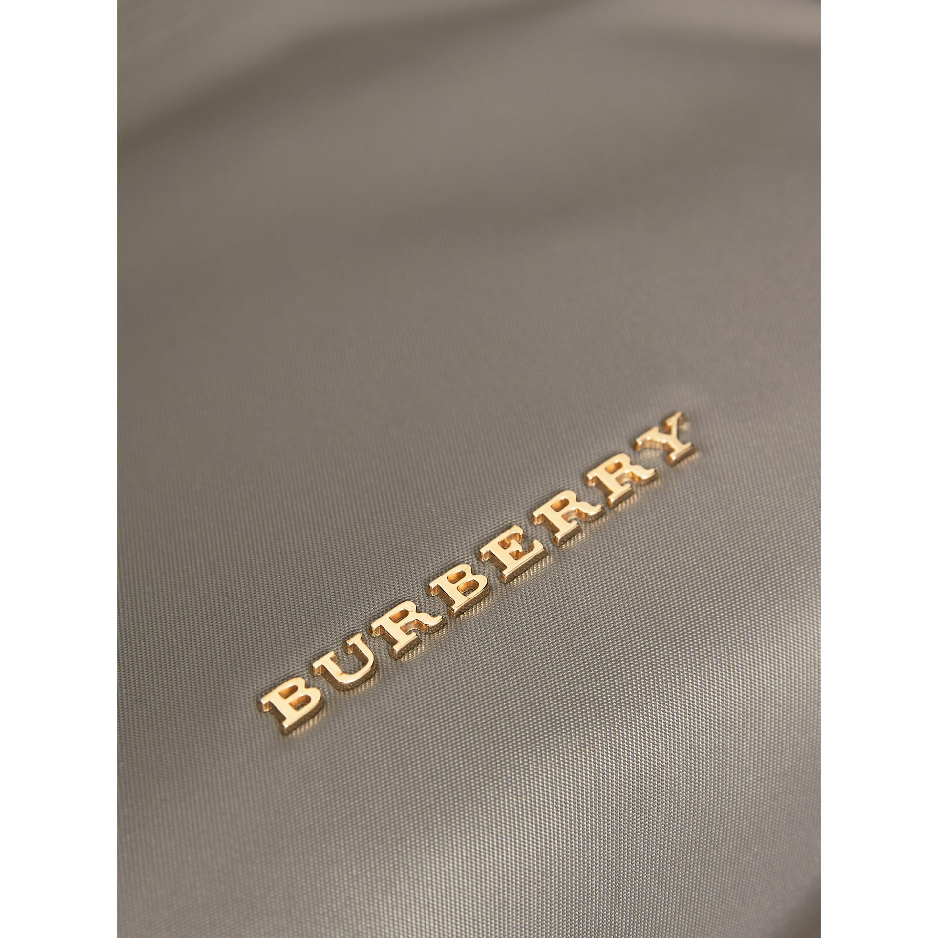 Large Zip-top Technical Nylon Pouch in Thistle Grey - Women | Burberry United Kingdom - gallery image 2