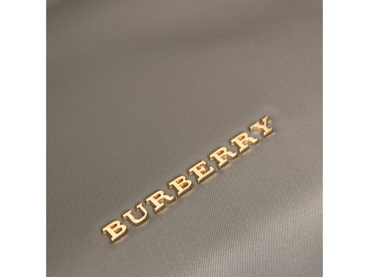 Large Zip-top Technical Nylon Pouch in Thistle Grey - Women | Burberry United Kingdom - cell image 1