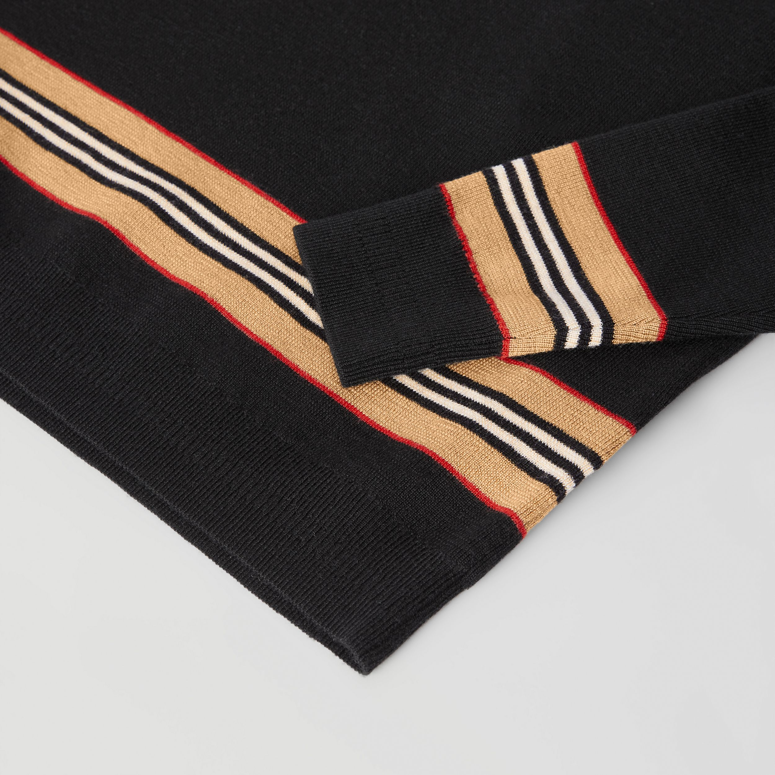 Icon Stripe Panel Merino Wool Sweater | Burberry - 2