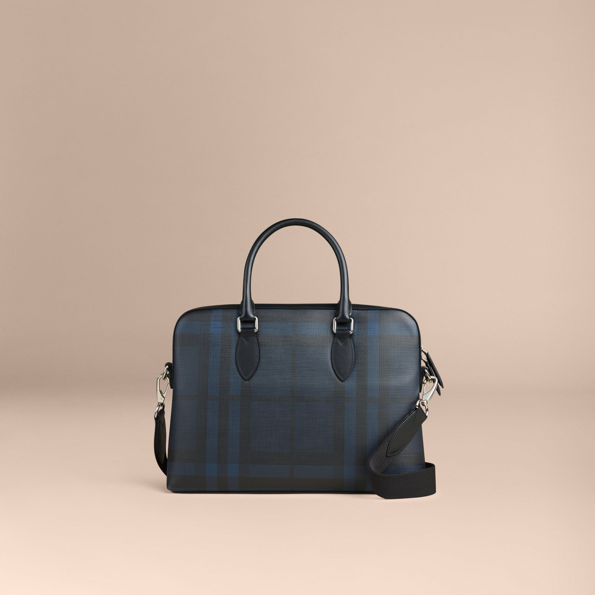 Sac The Barrow à motif London check (Marine/noir) - Homme | Burberry Canada - photo de la galerie 6