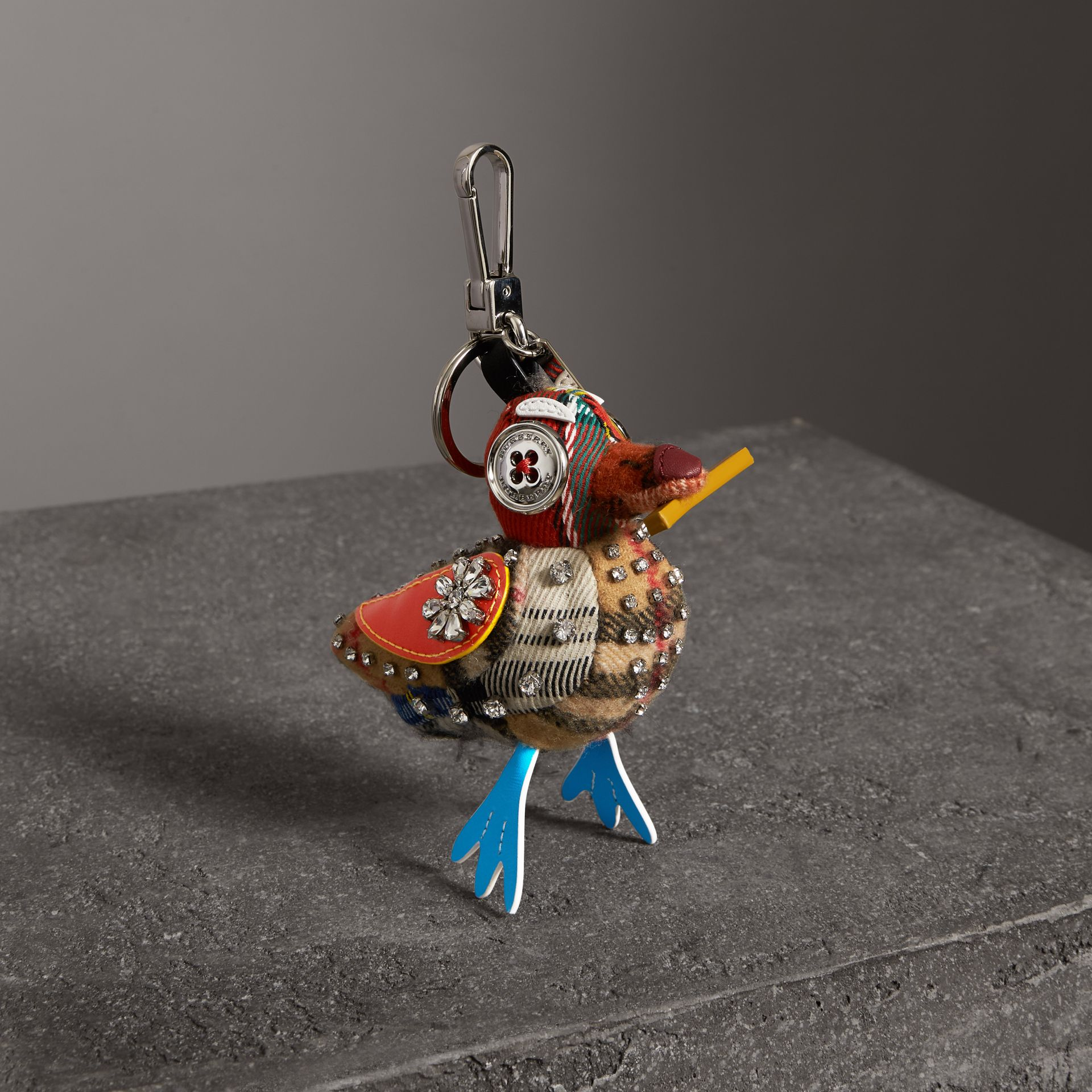 Lawrence The Seagull Cotton Charm in Blue/multicolour | Burberry - gallery image 0