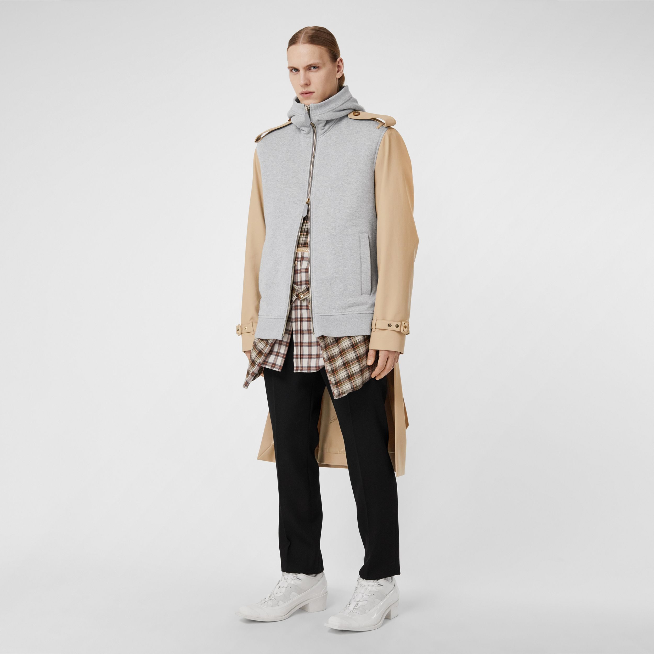 Cotton and Jersey Reconstructed Trench Coat in Soft Fawn | Burberry - 1