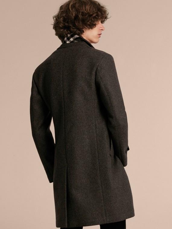 Camaïeu anthracite Manteau ajusté à boutonnage simple en laine mélangée - cell image 2
